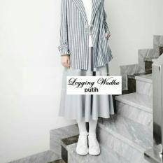 Celana Panjang Wanita Legging Wudhu Putih