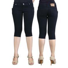 33Fashion - Celana Pendek 3per4 Skinny Jeans Wanita - Hitam - Lazada Prioritas