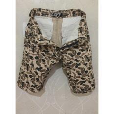 Celana Pendek bahan kampas motif loreng murah