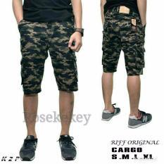 Celana pendek cargo army loreng murah bahan tebal good qulity produk