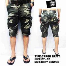 Celana Pendek / Celana Kargo Pria Short Kargo Army - 9C39dd