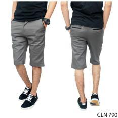 Beli Celana Pendek Chino Pria Chinos Abu Abu Grey Casual Chinos Celana Dengan Harga Terjangkau