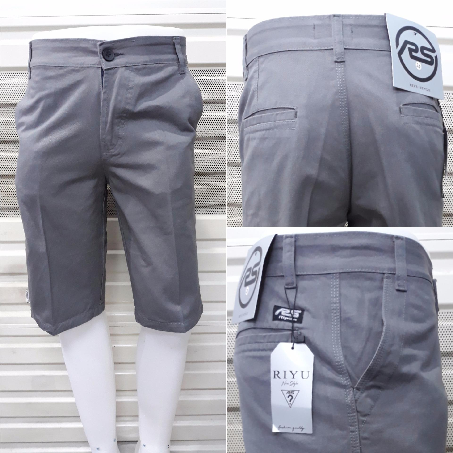 Jual Murah Celana Cargo Pendek Pria Trend Terbaru Info Fashion Cino Warna Abu Muda Bagus