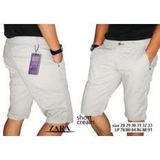 Celana Pendek Cream Chino Zara Man / Celana Chinos  Cargo Slimfit  - Q0eylp