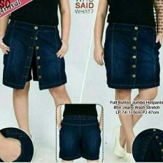 Celana pendek hotpants jeans wanita jumbo short pant Button