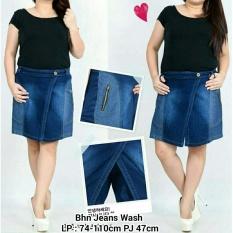 Harga Celana Pendek Jeans Wanita Jumbo Hot Pant Short Pant Vanie Fullset Murah