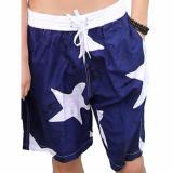 Beli Celana Pendek Pantai Santai Pria Motif Sky Beach Short Sport Pants Biru Navy Cicilan