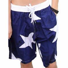 Beli Celana Pendek Pantai Santai Pria Motif Sky Beach Short Sport Pants Biru Navy Online Murah