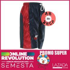 Celana Pendek Pria Olahraga Santai Merah Biru M L XL XXL