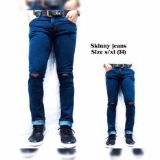 Review Toko Celana Pria Celana Jeans Pria Celana Panjang Celana Skinny Pria Model Sobek Online
