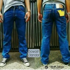 Harga Celana Pria Cowok Regular Standard Jeans Denim Biru Biowash Celana Jeans Panjang Big Size Besar Jumbo North Siberian Jawa Barat