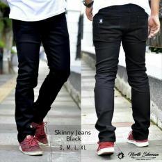 Celana Pria/Cowok Slimfit Skinny Jeans / Denim [Hitam/Black] Celana Jeans Panjang North Siberian