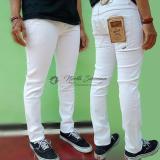 Celana Pria Cowok Slimfit Skinny Jeans Denim Putih White Celana Jeans Panjang North Siberian Di Jawa Barat
