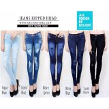 Beli Celana Ripped Hijab Dark Blue Kredit
