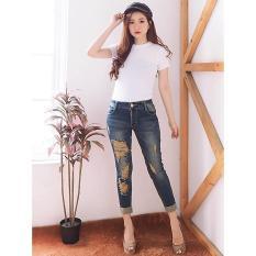Jual Jeans Celana Skinny Wanita Ripped Jeans Street 79 Cyb 9168 Ancienstore Online