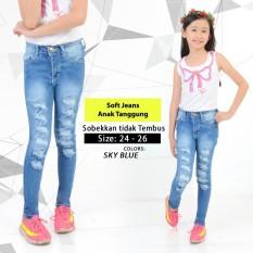 Celana Ripped Sobek Anak Tanggung Jeans Kids G*rl Cewek Fashion Denim Aener Diskon 30