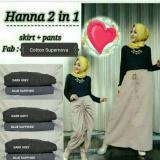 Promo Celana Rok Serut Hanna 2 In 1 Skirt Pant Dark Grey Dhee Collection