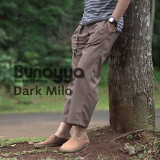 Celana Sirwal Formal Ikhwan Dark Milo Bunayya Sunnah Clothing