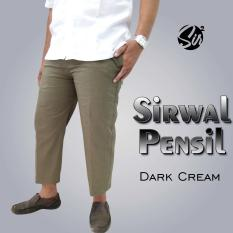 Celana Sirwal Pensil Dark Cream