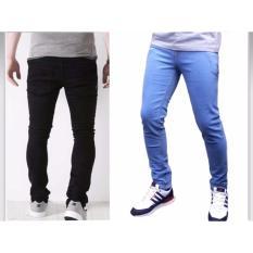Beli Celana Skiny Pria Biru Ice Murah Online