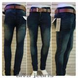 Harga Celana Slim Fit Pria Biru Terbaru Satu Set