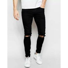 Jual Celana Soft Jeans Pria Jeans Skinny Sobek Jeans Skinny Ripped Celana Softjeans Stretch Kwalitas Premium Harga Terjangkau Ajoe Clothing