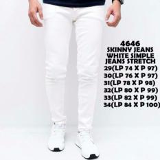 Celana Soft Jeans Pria - Putih