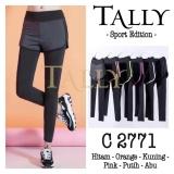 Spesifikasi Celana Sport 2771 Tally Legging Panjang Double Layer 2 Lapis Hitam Lis Hijau Lengkap