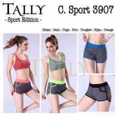 Review Celana Sport 3907 Pants Pendek Ada Kantong Senam Fitness Gym Hitam