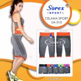 Jual Celana Sport Ua 010 Pants 3 4 Legging Senam Yoga Gym Sorex Ua010 Orange Branded Original