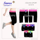 Review Pada Celana Sport Ua 014 Pants 3 4 Legging Senam Yoga Gym Sorex Ua014 Abu