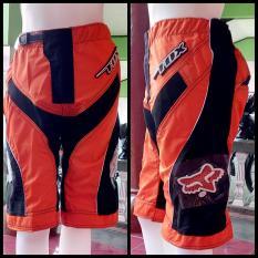 Celana Trail Cross Motocross Adventure Downhill Pendek Fx (Orange)