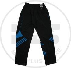 celana training merk athlet warna hitam garis biru