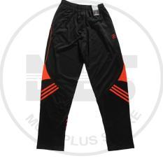celana training merk athlet warna hitam garis orange