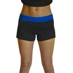 Cenita-Wanita Kasual Mode Musim Panas Pinggang Tinggi Olahraga Celana Yoga Celana Pendek Biru-Intl By Cenita.