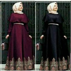 CGD Andiani Balon Batik (Maroon- Black) Baju Muslim