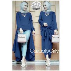 Beli Cgf Fashion Baju Atasan Blouse Long Tunik Muslimah Zahra Bahan Twistcone Online Terpercaya