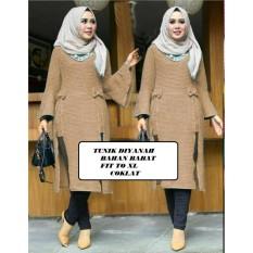 Jual Cgf Fashion Baju Atasan Tunik Wanita Muslimah Dinayah Bahan Babat Original