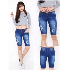 Promo Cgf Fashion Celana Pants Pendek Jeans Wanita Sherina Cgf Fashion Terbaru