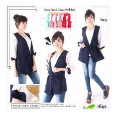 Toko Chamele Atasan Wanita Woman Cardigan Top Blouse Best Quality Katun Koshibo Cardigan Baju Kantor Chamele 1642 Terlengkap Di Indonesia