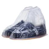 Review Tentang Channy Sepatu Hujan Fshion Pria Wanita Sepatu Boots Pergelangan Kesemek Overshoes Datar