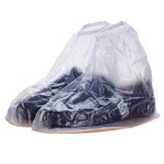 Harga Channy Sepatu Hujan Fshion Pria Wanita Sepatu Boots Pergelangan Kesemek Overshoes Datar New
