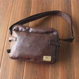 Spesifikasi Chaonan Kasual Messenger Perjalanan Kecil Tas Retro Tas Bahu Coklat Gelap Terbaru
