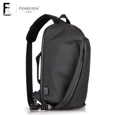 Harga Stylish Guy S Korean Style Large Capacity Shoulder Computer Bag Men S Shoulder Bag Badai Hitam Fenruien Tiongkok