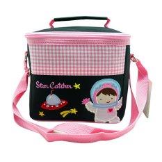 Jual Char Coll Tas Bekal Makan Square Lunch Bag Gratis Bordir Nama Astronaut G*rl Ori