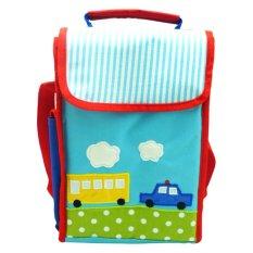 Toko Char Coll Tas Makan Bekal Anak Collin Lunch Bag Gratis Bordir Nama Transportation Blue Online