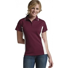 Charles River Apparel Womens Color Blocked Polo Shirt, Maroon/White, Medium - intl