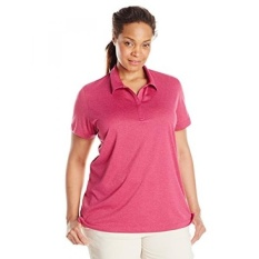 Pakaian Charles River Wanita Heathered Polo, Anggrek Heather,-Internasional