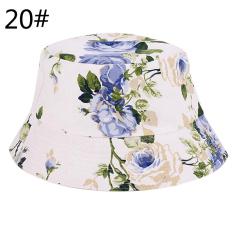 Unisex Pria Wanita Boonie Berburu Memancing Outdoor Cap Floral Bucket Sun Topi Sport 20 #-