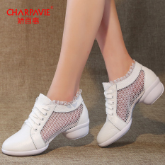 Jual Charpavie Sepatu Jaring Menari Wanita Kulit Asli Putih Jala Putih Jala Ori